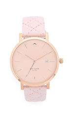 Kate Spade Metro Grand Quilted Strap Watch Pale Pink Rose Gold