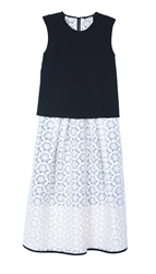 Tibi Embroidery Lace Layered Dress