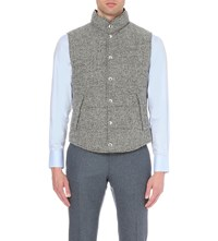 Brunello Cucinelli Reversible Tweed Boucle Gilet Grey
