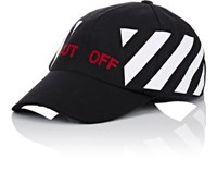 Off White C O Virgil Abloh Men's Cut Cotton Baseball Cap Black