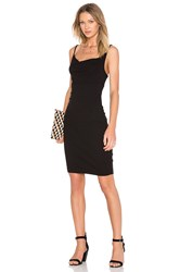 Three Dots Dalia Cowl Neck Mini Dress Black