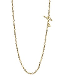 Temple St. Clair 18K Yellow Gold Classic Chain With Faceted White Sapphires 18 Gold White