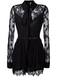 Elie Saab Tie Neck Lace Detail Jumpsuit Black