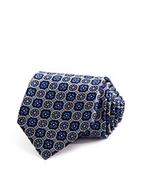 Bloomingdale's The Men's Store At Geometric Medallion Classic Tie Navy