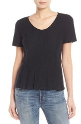 Women's Hinge Seam Detail Peplum Top Black