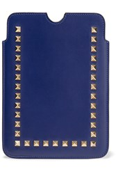 Valentino Studded Leather Ipad Case Blue