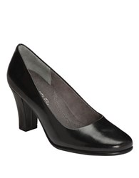 Aerosoles Dolled Up Leather Pumps Black Leather