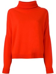 Dusan High Neck Chunky Sweater Red
