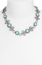 Konstantino 'Aegean' Collar Necklace Silver Turquoise