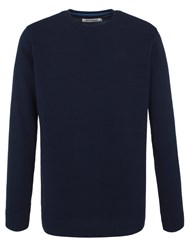 Ben Sherman Ripple Stitch Crew Neck Jumper Navy