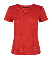 Maje Trompette T Shirt Female Red