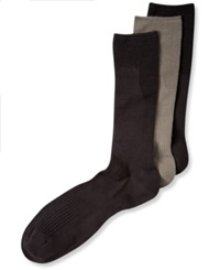 Perry Ellis Men's Socks C Fit Non Binding Comfort Crew 3 Pack Medium Assorted