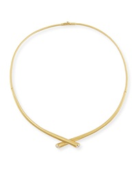 18K Gold Collar Necklace With Diamonds Carelle