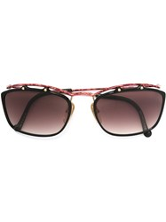 Christian Lacroix Vintage Square Frame Sunglasses Black
