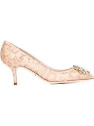 Dolce And Gabbana 'Bellucci' Pumps Pink And Purple