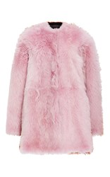 Jo No Fui Bi Color Kalgan And Shearling Overcoat Pink