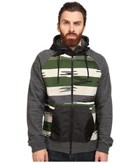Staple Apache Print Zip Hoodie Olive Men's Sweatshirt