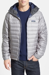 Patagonia Packable Windproof And Water Resistant Goose Down Sweater Hooded Jacket Feather Grey