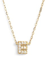 Women's Nadri Cubic Zirconia Initial Pendant Necklace E Gold