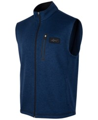 Greg Norman For Tasso Elba Men's Big And Tall Fleece Sweater Vest Only At Macy's Blue Socket