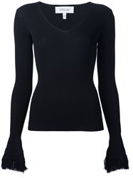 Derek Lam 10 Crosby Ribbed Scoop Neck Jumper Black