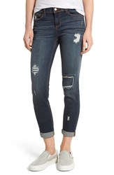 Sp Black Women's Patched Knee Skinny Jeans