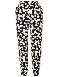Chesca Abstract Print Trousers Black Ivory