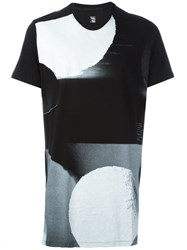 Julius Abstract Print T Shirt Black