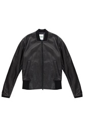 Kenzo Leather Jacket W Emb On Back