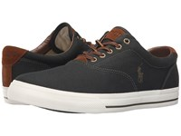 Polo Ralph Lauren Vaughn Green Canvas Sport Suede Men's Lace Up Casual Shoes Black