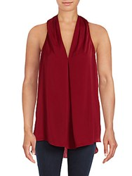 Max Studio Solid Sleeveless Top Silver
