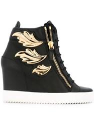 Giuseppe Zanotti Design 'Cruel' Hi Top Wedge Sneakers Black