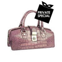 L.A.P.A. Lilac Croco Embossed Mini Doctor Style Bag