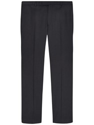Jaeger Wool Slim Fit Suit Trousers Charcoal