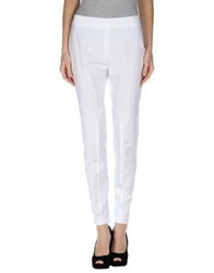 Jil Sander Navy Casual Pants White