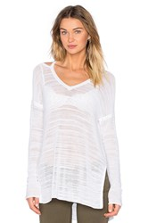 Feel The Piece Playa Open Shoulder Pullover White