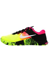 Nike Performance Metcon 2 Sports Shoes Volt Black White Yellow