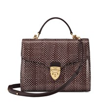Aspinal Of London Pheasant Print Mayfair Bag Unisex Brown
