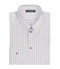 Dolce And Gabbana Pinstripe Gold Fit Shirt Male White