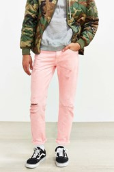 Levi's Overdyed Pink Destructed 511 Slim Jean