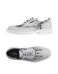 Bruno Bordese Footwear Lace Up Shoes Men Light Grey