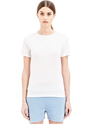 Sunspel Lightweight Short Sleeved T Shirt White