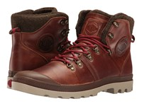 Palladium Pallabrouse Hikr Sunrise Red Safari Men's Lace Up Casual Shoes Brown