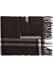 Burberry House Check Scarf Brown