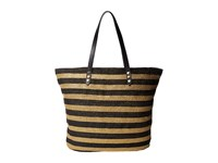 San Diego Hat Company Bsb1558 Briad Gold Stripe Tote Bag With Interior Sippered Pocket Black Tote Handbags