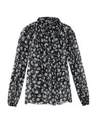 Dolce And Gabbana Tie Neck Daisy Print Blouse