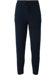 Theory Cashmere Track Pants Blue