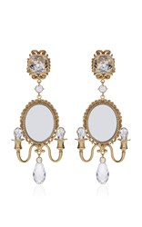 Dolce And Gabbana Mirror On The Wall Chandelier Earrings Gold