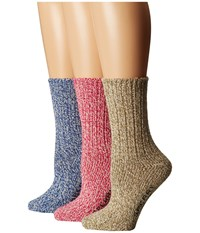 Sperry Ragg Crew 3 Pack Giftable Fuchsia Purple Assorted Women's Crew Cut Socks Shoes Multi