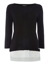 Episode Lightweight Knit Jumper With Layering Black